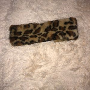 Cheetah head band for the winter